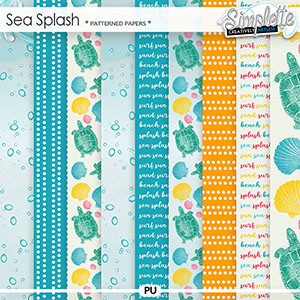 Sea Splash (patterned papers) by Simplette | Oscraps
