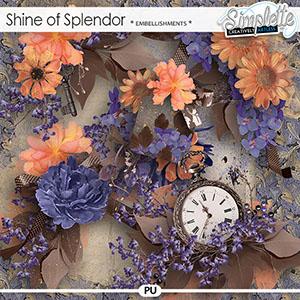 Shine of Splendor (embellishments) by Simplette | Oscrap