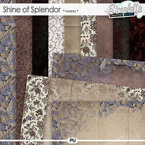 Shine of Splendor (papers) by Simplette | Oscraps