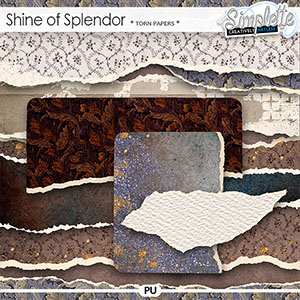 Shine of Splendor (torn papers) by Simplette | Oscraps