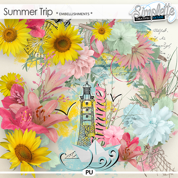 Summer Trip (embellishments)