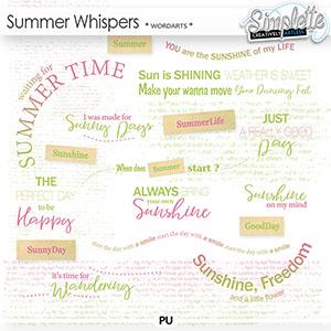 Summer Whispers (wordarts)