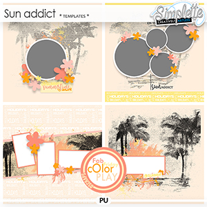 Sun Addict (templates) by Simplette Fab Friday Oscraps