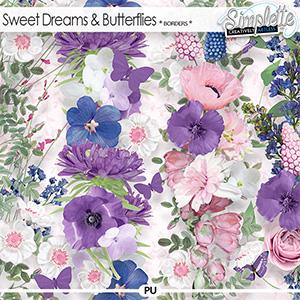 Sweet Dreams and Butterflies (borders) by Simplette