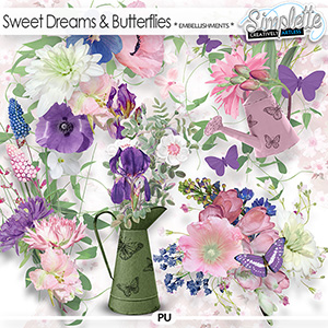 Sweet Dreams and Butterflies (embellishments) by Simplette