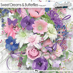 Sweet Dreams and Butterflies (full kit) by Simplette