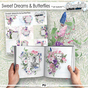Sweet Dreams and Butterflies (quick pages album) by Simplette