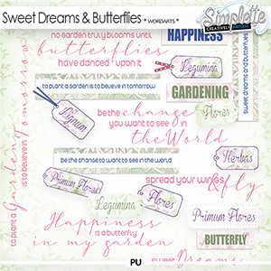 Sweet Dreams and Butterflies (wordarts) by Simplette
