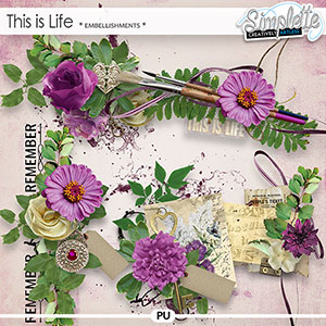 This is Life (embellishments) by Simplette | Oscraps