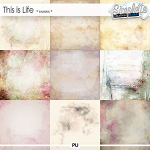 This is Life (papers) by Simplette | Oscraps