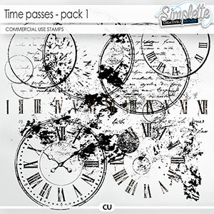 Time passes (CU stamps) pack 1 by Simplette | Oscraps