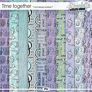 Time Together (patterned papers) by Simplette