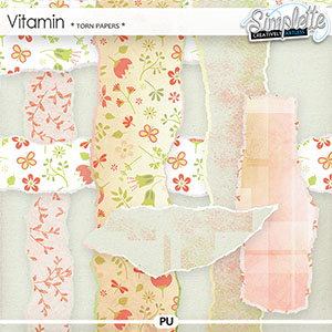 Vitamin (torn papers)