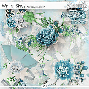 Winter Skies (embellishments) by Simplette