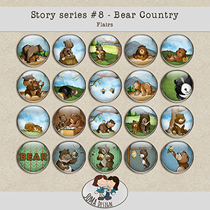 SoMa Design: Bear Country - Flairs - Story Series #8