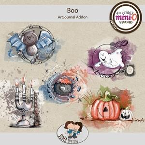SoMa Design: Boo - MiniO - ArtJournal AddOn