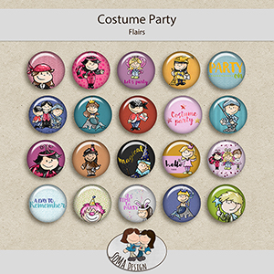 SoMa Design: Costume Party - Flairs