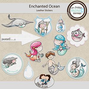 SoMa Design: Enchanted Ocean MiniO - Leather Stickers