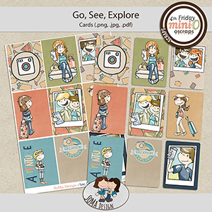 SoMa Design: Go, See, Explore - MiniO - Printable Cards