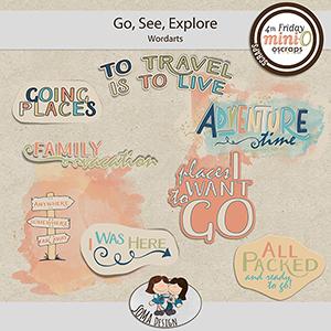 SoMa Design: Go, See, Explore - MiniO - Wordarts