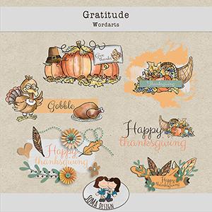 SoMa Design: Gratitude - Wordarts