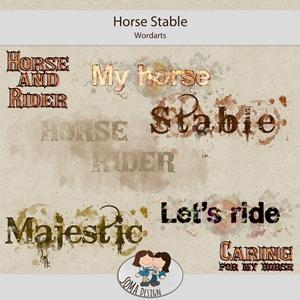 SoMa Design: Horse Stable - Wordarts