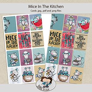 SoMa Design: Mice In The Kitchen - Cards