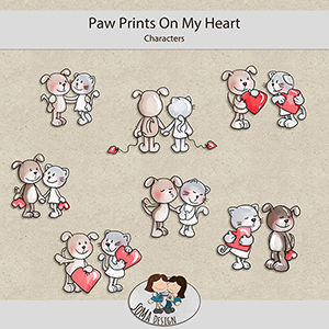 SoMa Design: Paw Prints On My Heart  - Characters