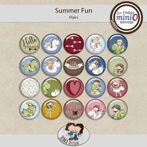SoMaDesign: Summer Fun - Flairs