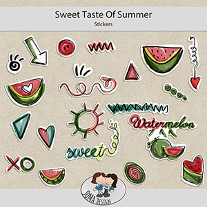 SoMa Design: Sweet Taste Of Summer - Stickers