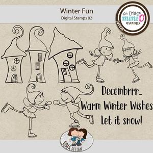 SoMa Design: Winter Fun - MiniO - Digital Stamps 02