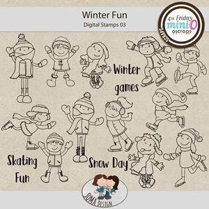 SoMa Design: Winter Fun - MiniO - Digital Stamps 03