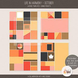 Life In Harmony - October {Templates}