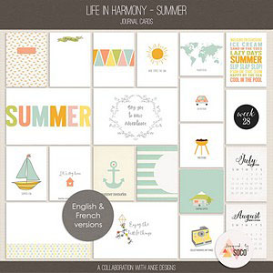 Life In Harmony - Summer {Journal Cards}
