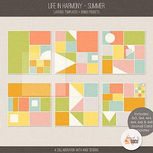 Life In Harmony - Summer {Templates}