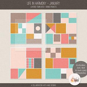 Life In Harmony - January {Templates}