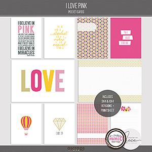 I Love Pink - Pocket Cards