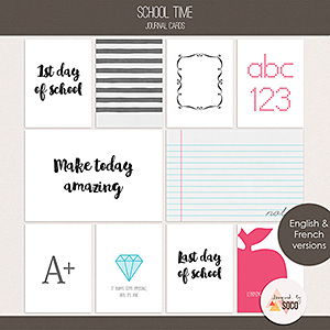 School Time - Journal Cards