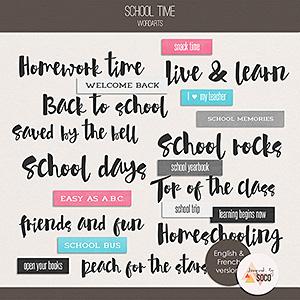 School Time - Wordarts