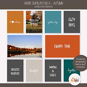 Word Overlays No. 5 - Autumn