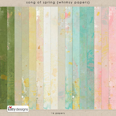 Song Of Spring Whimsy Papers