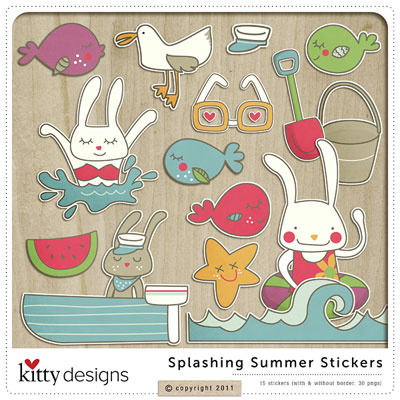 Splashing Summer Stickers