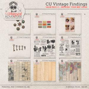 CU Vintage Findings Value Pack 1