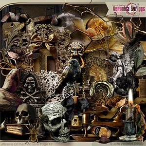 Mistress Of The Macabre Page Kit