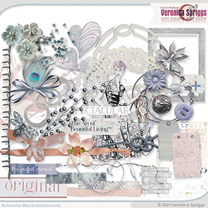 Bohemian Bliss Embellishments by Veronica Spriggs