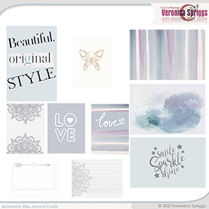 Bohemian Bliss Journal Cards by Veronica Spriggs