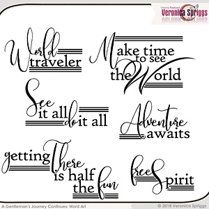 A Gentleman's Journey Continues  Word Art