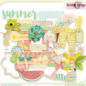 Summer Time Funner Time Embellishments