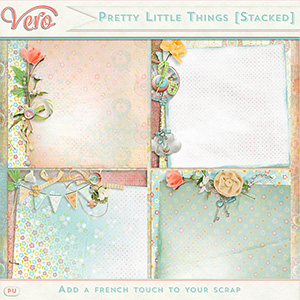 Pretty little Things - Stacked Papers
