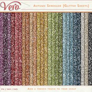 Autumn Serenade Glitter Papers by Vero